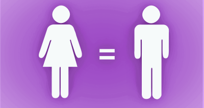 Women are equal to men.