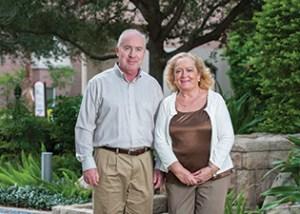 Professor of Spanish Lola Hidalgo-Calle and Professor of English Mark Putnam at the University of Tampa.