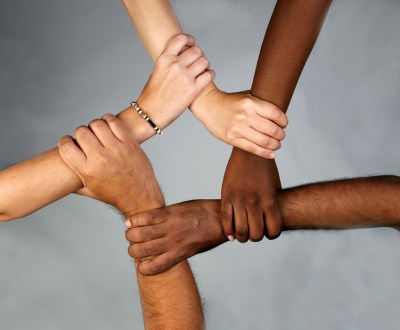 Different races united together