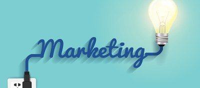 An image of the word marketing.