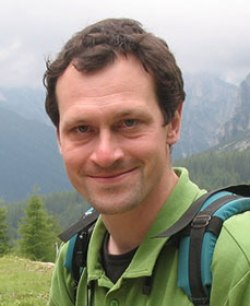 This image shows Matthew Klemm hiking.