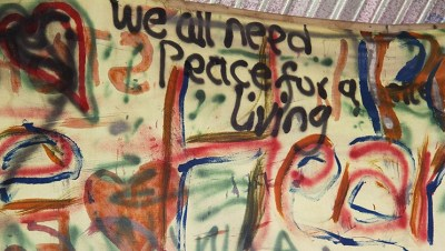 Artistic plea for peace by students