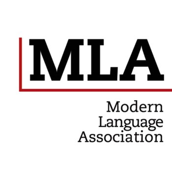An image of the Modern Language Association (MLA) referencing style logo