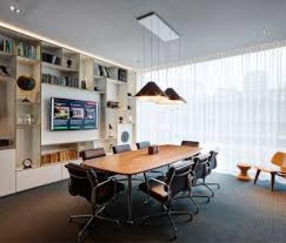 An empty meeting room