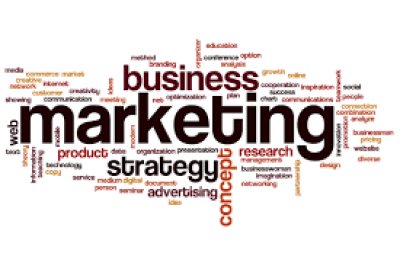 Sign with marketing words