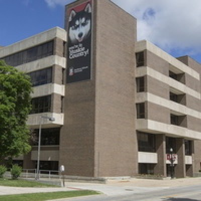 the Founders Memorial Library at NIU