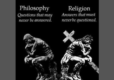 a poster about philosophy and religion