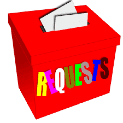 Pictured: clipart of a request box