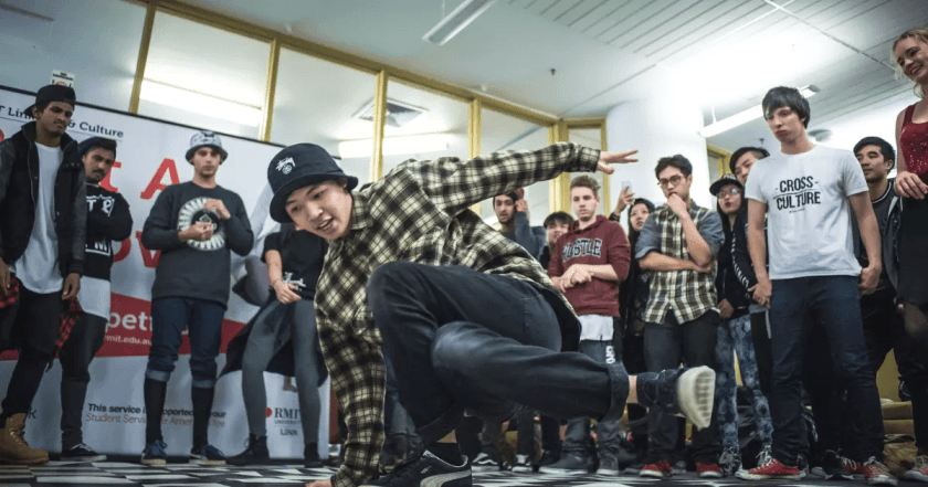 Students at a Hip Hop class