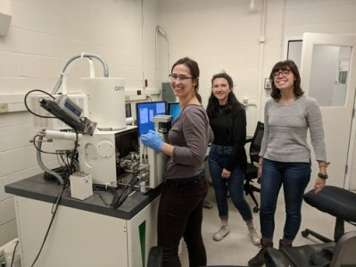 The laboratory group at Ithaca College