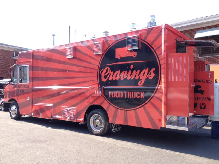 Cravings Food Truck that supplies food to students and other customers