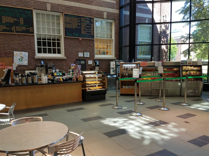 The inside view of the Commons - Driscoll Hall