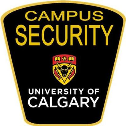 Campus security badge of the university of calgary