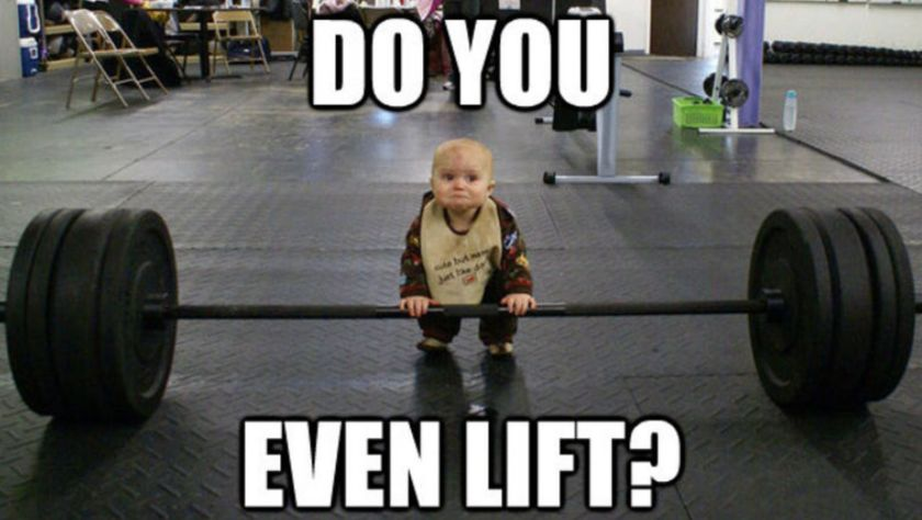 Imaging a toddler lifting enormous weights