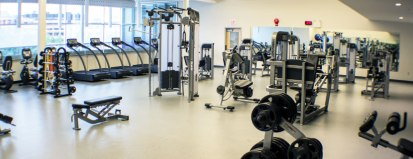 Sport center with equipments