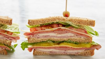 Serving of sandwich at Fired Up
