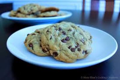 chocolate chip cookies in plate