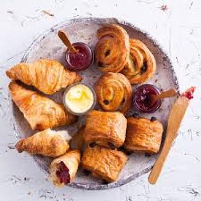 breakfast pastries platter
