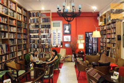 Inside of reading room cafe