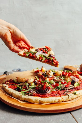 vegan Gluten free pizza serving
