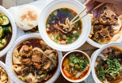 Servings of Asian cuisine