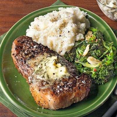 strip-steaks-with-rosemary-garlic-butter