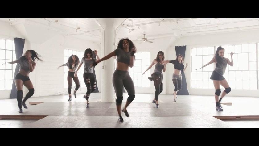 Female dancers tap dancing