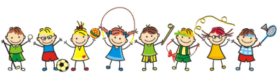 Illustration of kids playing different games