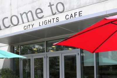 Entrance of City Lights Cafe
