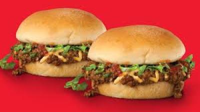 2 burgers of Taco John's