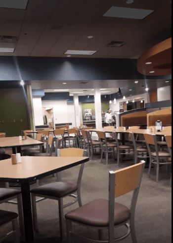 dining hall of Larson Commons