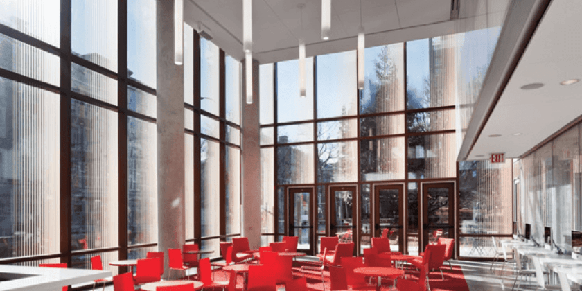 The Diana Center Cafe is a colorful joint