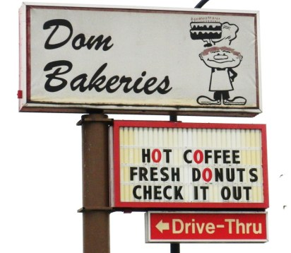 The notice board of dom bakery