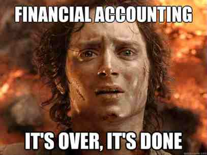 A funny meme of financial accounting