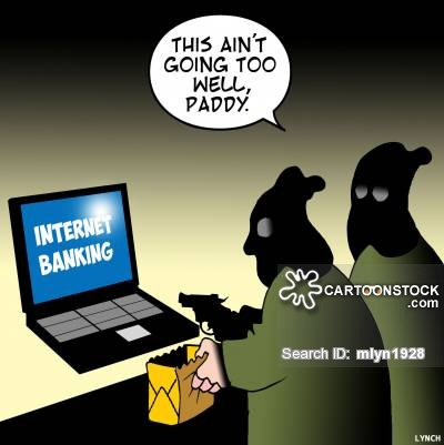 Funny carton representation of computer crime