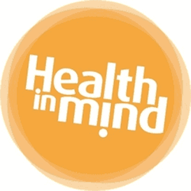 """""""Health in mind"""" inscription in a circle"""