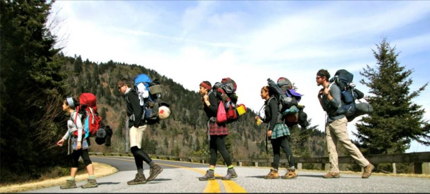 Students on a hiking trip