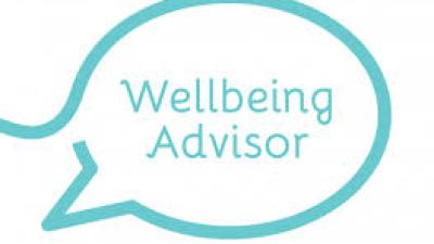 Showing a designed logo of Wellbeing Advisor