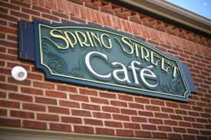 sign for spring street cafe