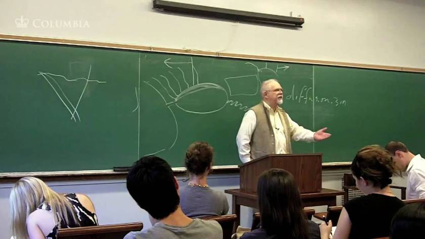 A professor teaching history of the modern world
