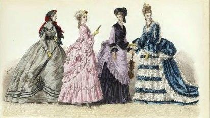 Historical dresses of ladies
