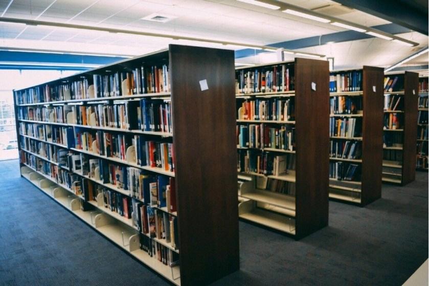 A school's library arranged in proper order