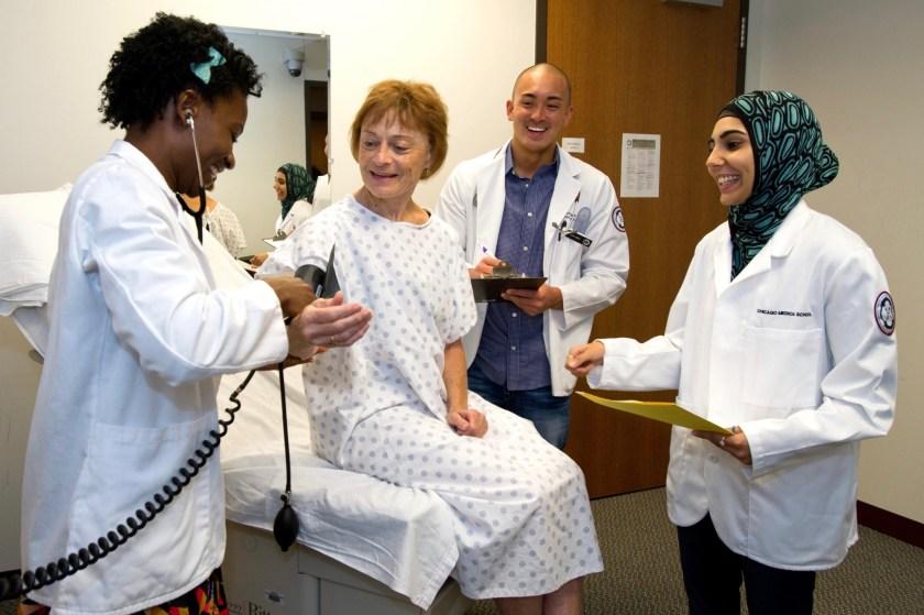 Students in a standardized patient program