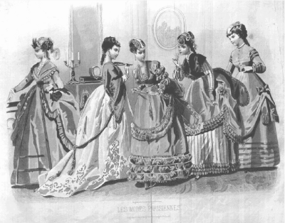 picture of 5 American women of 19th century