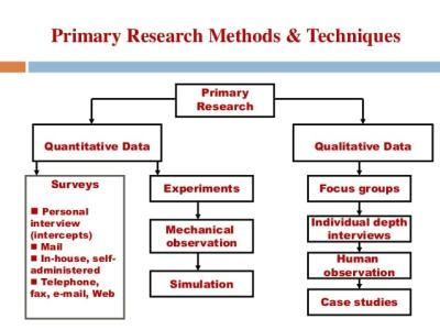 primary research methods and techniques