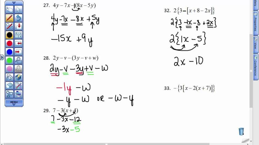 example of equations in algebra
