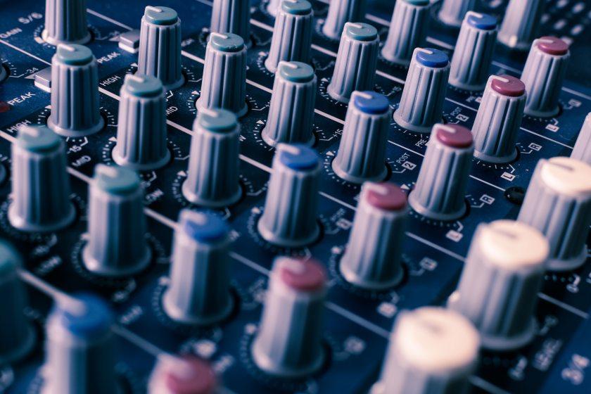 image of a sound board