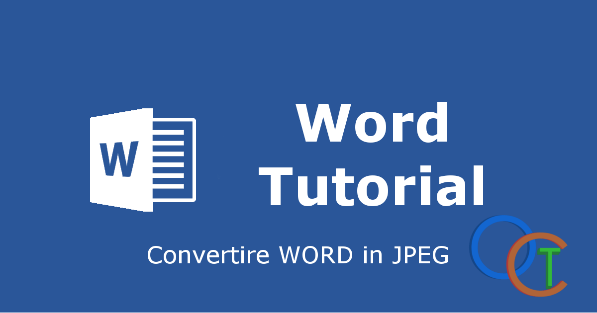 Come convertire WORD in JPEG