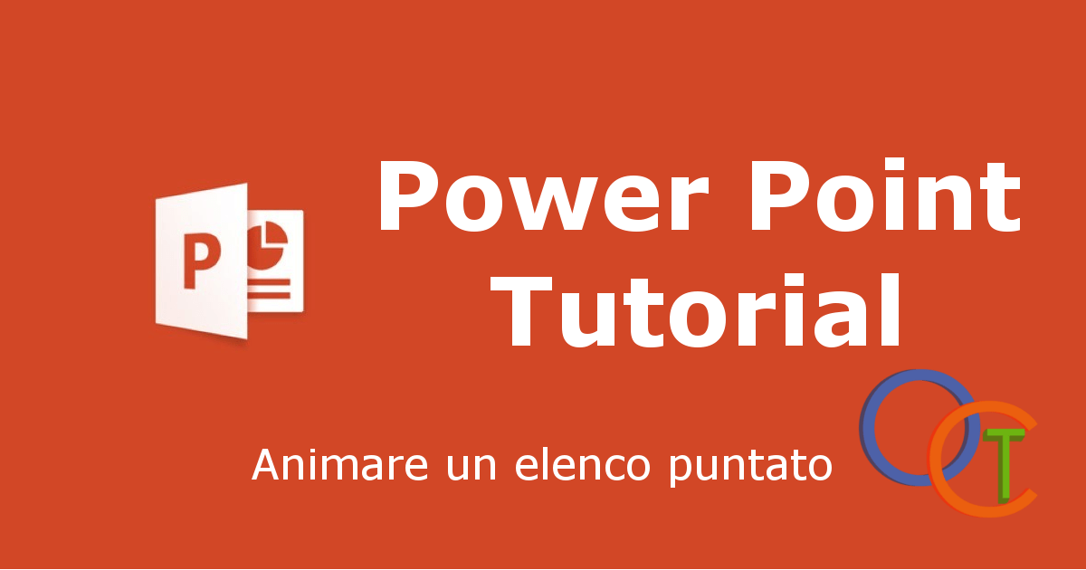 Animare un elenco puntato in POWERPOINT