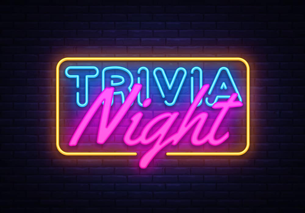 trivia night 45 bar & restaurant tuesdays 6pm